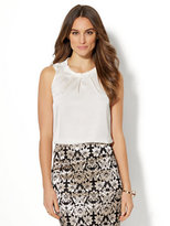 New York & Co. 7th Avenue - Pleated Sleeveless Blouse