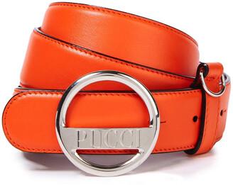 Emilio Pucci Logo-embellished Leather Belt