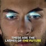 MSmask 2PCS False Eyelashes LED Luminous Glowing Waterproof Fashion Professional Makeup Tools Saloon Pub Club Bar Party