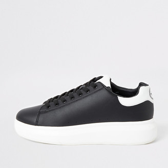 River Island Black chunky sole lace-up trainers