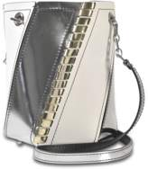 Proenza Schouler Mini Hex Bucket Bag Smooth Leather with Metallic Whipstitch