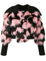 Miu Miu Patchwork Fur and Mohair Cropped Jacket