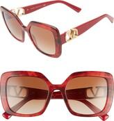 Valentino VLOGO 53mm Gradient Square Sunglasses