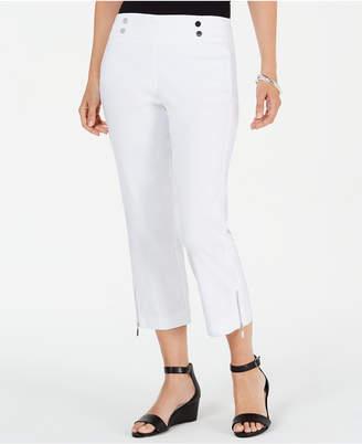 JM Collection Zip-Hem Capri Pants