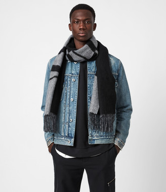 AllSaints Alon Reversible Wool Scarf