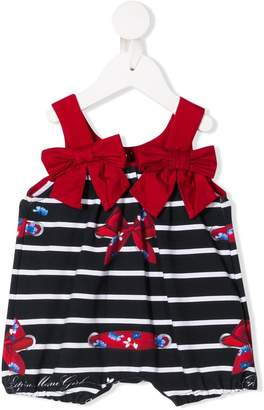 Striped Bow Print Shorties
