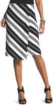 Chico's Striped Ponte Skirt