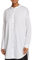 Eileen Fisher Mandarin Collar Button Down Shirt