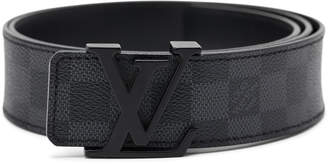 Louis Vuitton Belt Initiales Damier Graphite Black/Grey