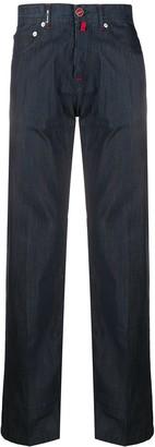 Kiton Checked Straight-Leg Trousers