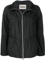 Herno flared zip-up jacket
