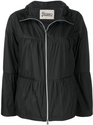 Herno Flared Zip-Up Jacket