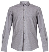 Lanvin Contrast-trim checked cotton shirt