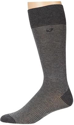Vineyard Vines Fine Stripe Socks (Vineyard Navy) Men's Crew Cut Socks Shoes