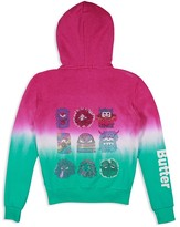 Butter Shoes Girls' Embellished Little Monster Ombré Hoodie - Sizes 4-6