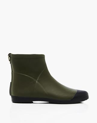 Madewell Alice + Whittles Minimalist Olive Ankle Rain Boots