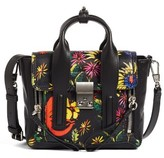 3.1 Phillip Lim Mini Pashli Printed Leather Satchel - Black