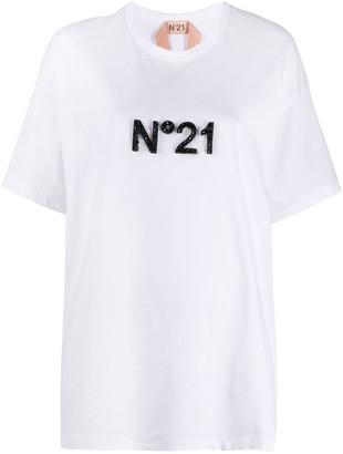 No.21 logo-embellished T-shirt
