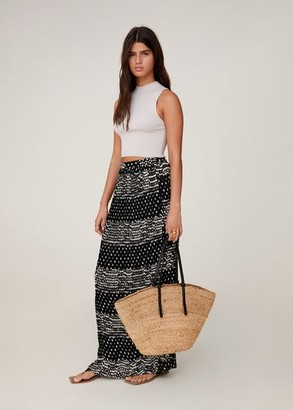 MANGO Printed long skirt