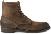 Officine Creative Tempus Burnished-Suede Boots