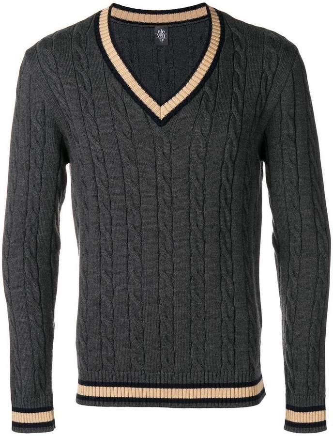 Eleventy knitted V-neck jumper