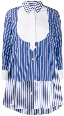 Sacai Striped Layered Shirt Dress