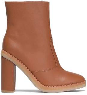 See by Chloe Staysa Scalloped Leather Ankle Boots