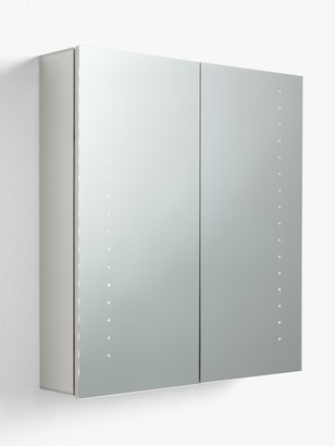 John Lewis & Partners Double Mirrored and LED Illuminated Bathroom Cabinet