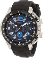 August Steiner Men's ASA803BU Stainless Steel Chronograph GMT Watch