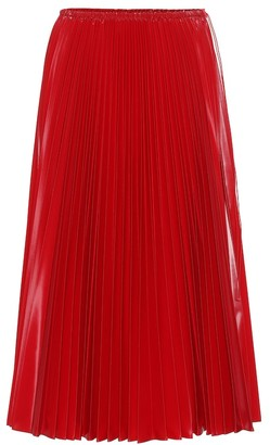Fendi Pleated nylon midi skirt