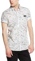Kaporal Men's Normal Waist Classic Short Sleeve Casual Shirt - White -
