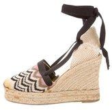 Missoni Espadrille Wrap-Around Wedges