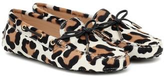 Tod's Gommino leopard-print calf-hair moccasins
