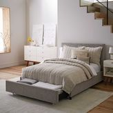 west elm Contemporary Upholstered Storage Bed - Deco Weave