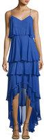 Parker Francine Tiered Ruffled Chiffon Dress