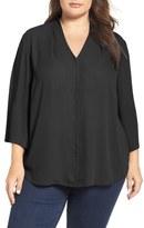 NYDJ V-Neck Woven Tunic (Plus Size)