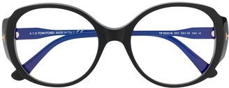 Tom Ford Round Oversized Glasses
