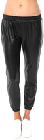 David Lerner Vegan Leather Track Pant