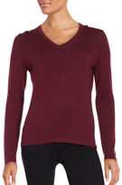 Lord & Taylor Merino Wool V-Neck Sweater