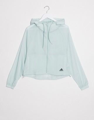 adidas Training zip through jacket in green
