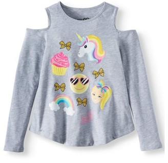 Nickelodeon Jojo Siwa JoJo Siwa Cold Shoulder Long Sleeve Graphic T-Shirt (Little Girls & Big Girls)