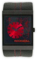 Rockwell Time Unisex MC118 Mercedes Black Leather and Red Watch