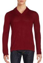 John Varvatos Scarlet Wool Blend Sweater
