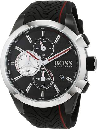 HUGO BOSS Unisex-Adult Chronograph Quartz Watch with Silicone Strap 1513284