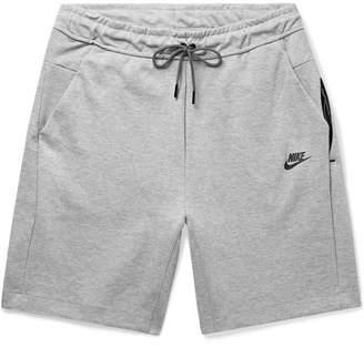 Nike Sportswear Melange Cotton-Blend Tech-Fleece Shorts