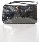 Marc by Marc Jacobs Silver Plastic Zipper Closure One Pocket Clutch Handbag