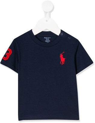 Ralph Lauren Kids logo embroidered T-shirt