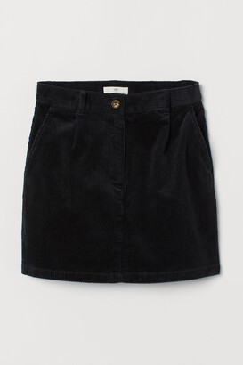 H&M Short Corduroy Skirt