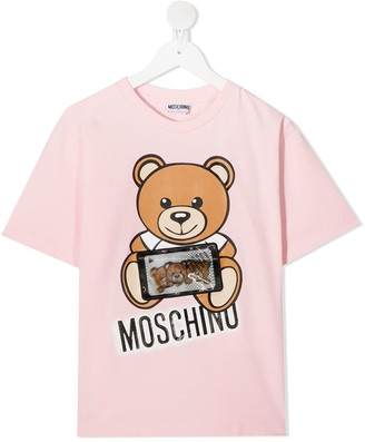MOSCHINO BAMBINO teddy bear-print T-shirt