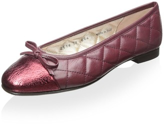 Le Babe Women's Quilted Flat with Bow